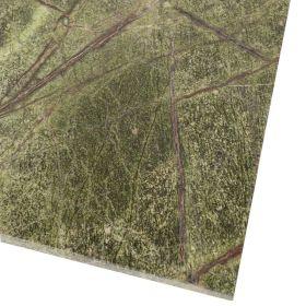 Płytki marmurowe kamienne naturalne podłogowe Rain Forest Green 61x30,5x1,2 cm szczotkowany