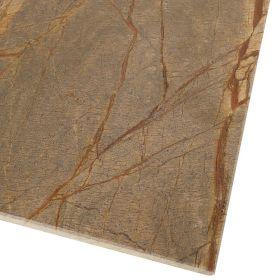 Płytki marmurowe kamienne naturalne podłogowe Rain Forest Brown 61x30,5x1 cm polerowane