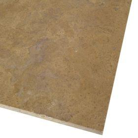 Płytki trawertyn kamienne naturalne podłogowe trawertynowe szpachlowany Walnut Dark
