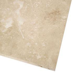 Płytki trawertyn kamienne naturalne podłogowe ozdobne trawertynowe szpachlowany Ivory Beżowy kamień naturalny 45,7x45,7x1,2 cm