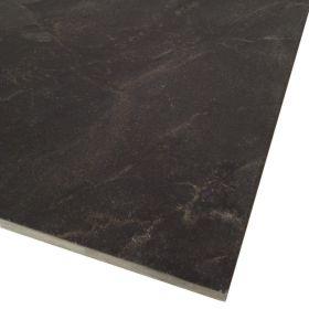 Płytki Kamienne Naturalne Podłogowe Ścienne Łazienka Kwarcyt Platinium Nero 60x60x1,5 cm