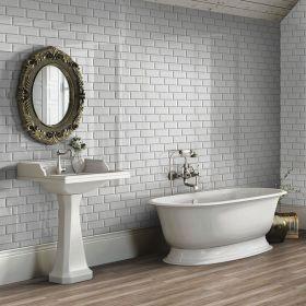 płytka ceramiczna glazura ścienna łazienkowa do kuchni metro beige 10x20 cm kuchnia szkliwiona