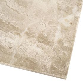Płytki marmurowe kamienne naturalne podłogowe Diana Royal bębnowana 61x40,6x1,2