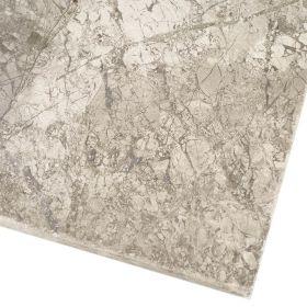 Płytki marmurowe kamienne naturalne podłogowe bębnowane Silver Shadow łązienka 61x40,6x1,2 cm