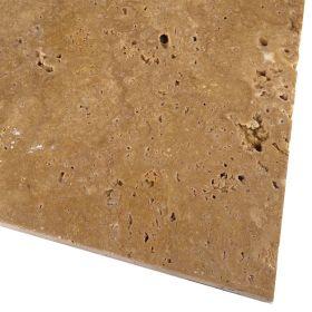 Płytki trawertyn kamienne naturalne podłogowe ozdobne trawertynowe szczotkowany Noce kamień 61x40,6x1,2