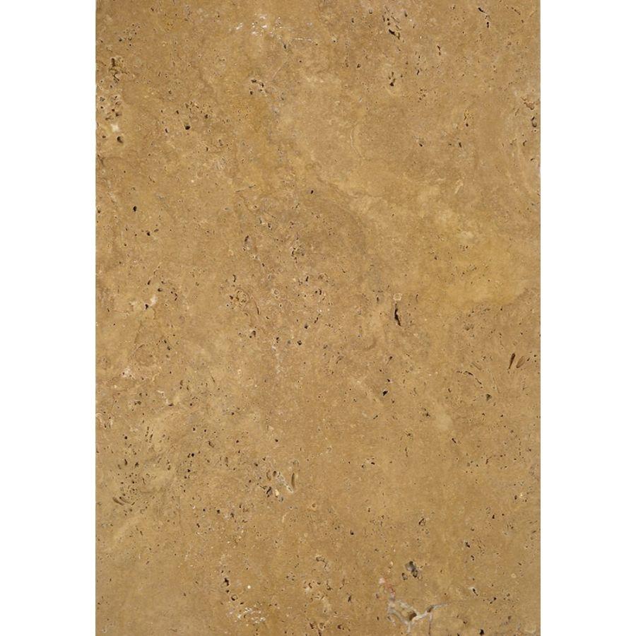 Płytki trawertyn kamienne naturalne podłogowe ozdobne trawertynowe szczotkowany Noce Beżowy kamień 61x40,6x1,2