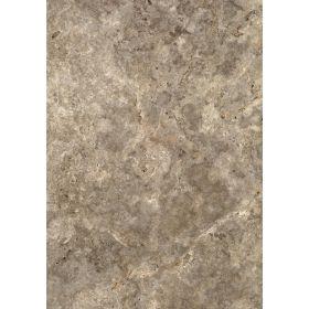 Płytki trawertyn kamienne naturalne podłogowe ozdobne trawertynowe szczotkowany szary Silver 61x40,6x1,2 cm
