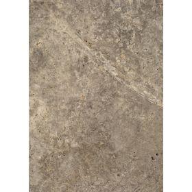 Płytki trawertyn kamienne naturalne podłogowe trawertynowe szczotkowany szary Silver 61x40,6x1,2 cm