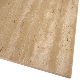 Płytki trawertyn kamienne naturalne podłogowe żywicowany polerowany Ivory Classic 60x30x1,5