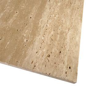 Płytki trawertyn kamienne naturalne podłogowe szlifowany surowy Ivory Classic 60x30x1,5