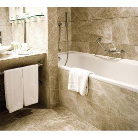 płytki marmurowe emperador beige polerowane łazienka
