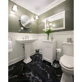 płytki marmurowe polerowane negro marquina łazienka