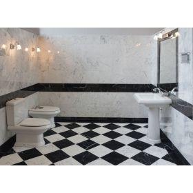 płytki marmurowe nero marquina łazienka