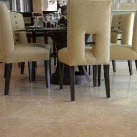 płytki marmur royal beige polerowany podłoga