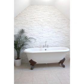 kamień naturalny kwarcyt panel ścienny biały bianco white