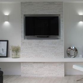 kamień naturalny kwarcyt panel ścienny biały bianco dekoracyjny