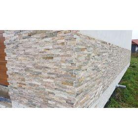 panel dekoracyjny ścienny elewacyjny kamień naturalny łupek beige ivory 10x36