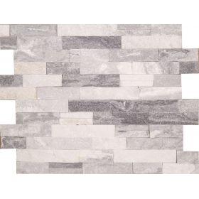 kamień dekoracyjny elewacyjny panel ścienny Kwarcyt Bianco Grey