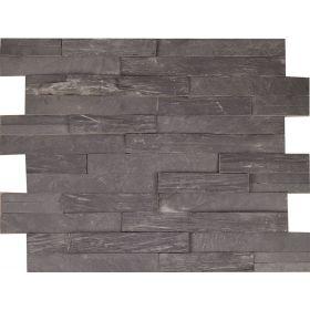 kamień dekoracyjny elewacyjny panel ścienny Łupek Black 3D