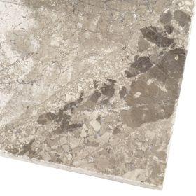 Płytki marmurowe kamienne naturalne podłogowe bębnowane Silver Shadow