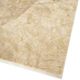 Płytki marmurowe kamienne naturalne podłogowe Royal Beige szczotka 60x60x1,8 cm