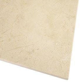 płytki marmurowe kamienne naturalne crema marfil poler 45,7x45,7 ściana podłoga