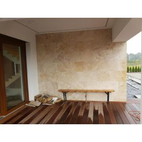 płytki trawertynowe kamien naturalny classic elewacja