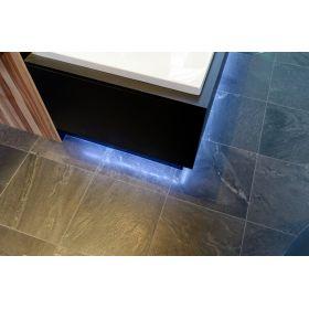 płytki kamienne kwarcyt czarny podłogowy do łazienki