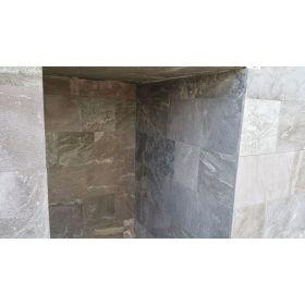 płytki kwarcytowe steel grey kamień naturalny szary płomieniowany  elewacja