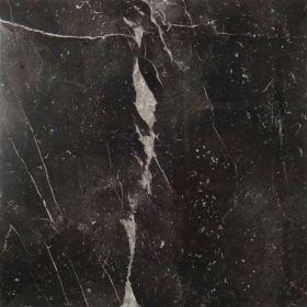 Płytki marmurowe kamienne naturalne podłogowe Negro Marquina 60x60x2 cm polerowane