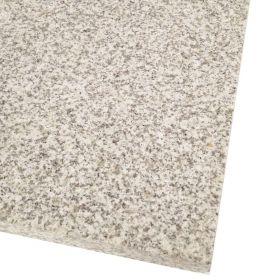 Płytki granitowe kamienne naturalne Bianco Crystal Grey G603 60x60x1,5 cm szare płomieniowane schody