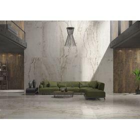 płytki ceramiczne gresowe podłogowe marmara Onyx White 120x60 polerowane