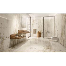 płytki ceramiczne gresowe podłogowe marmara Onyx White 120x60 szkliwione