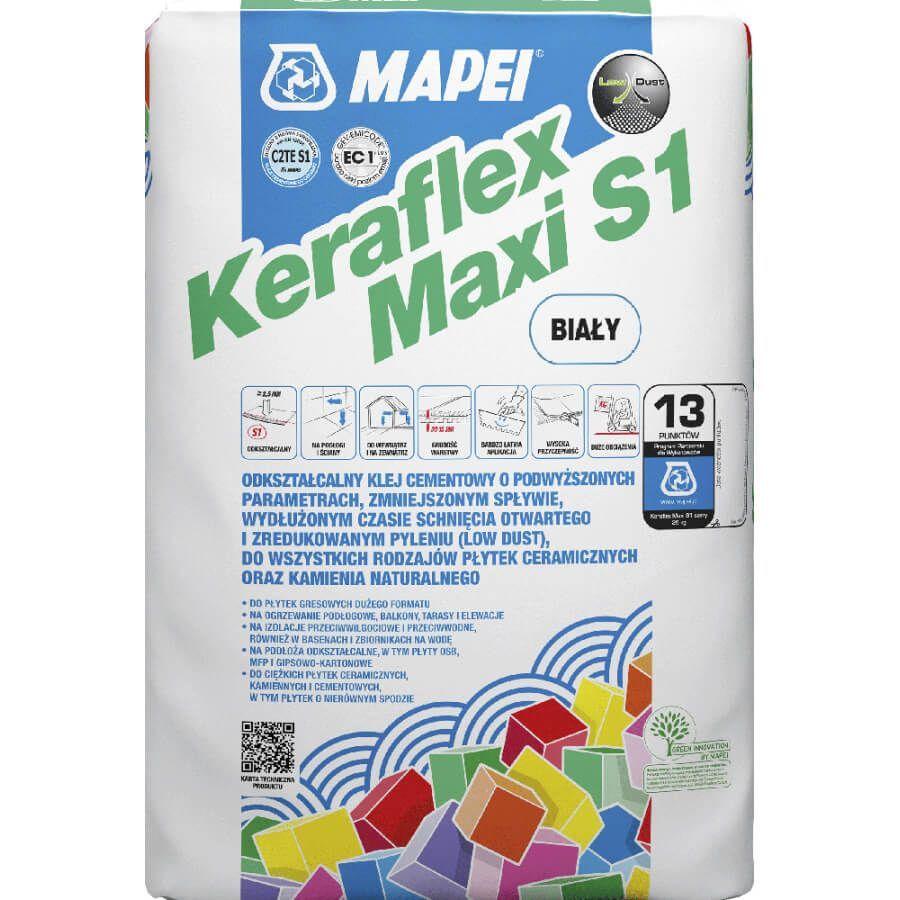 klej do kamienia naturalnego marmuru granitu łupka trawertyny mapei keraflex maxi s1