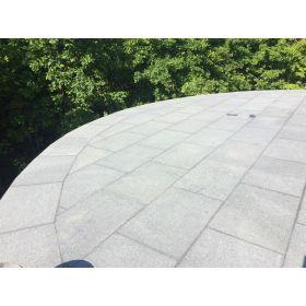 płytki tarasowe kamienne granit płomieniowany g603 szary taras crystal grey