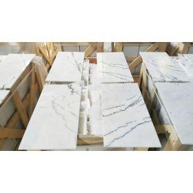 płytki marmurowe kamienne naturalne poler carrara lilac białe white