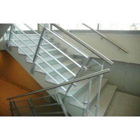 stopnice kamienne schody granitowe wewnętrzne szare crystal grey polerowane