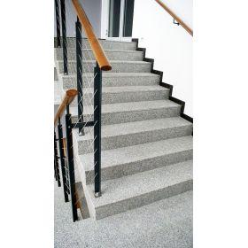 schody granitowe kamienne wewnętrzne szare crystal grey polerowane