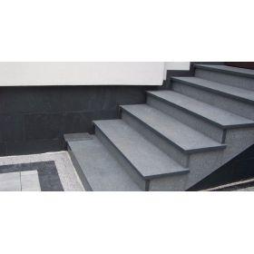 granit płomieniowany schody padang dark impala stopnice g654 zewnętrzne