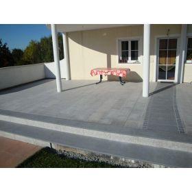 granit płomieniowany schody padang dark impala stopnice g654 grubość 3 cm