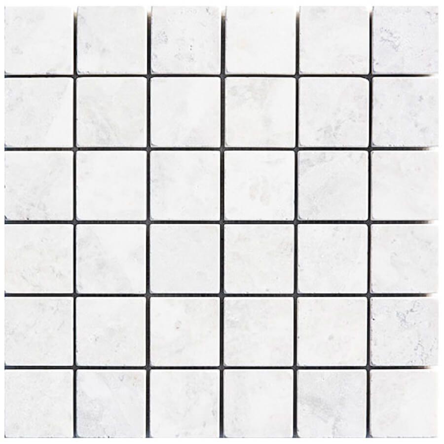 mozaika kamienna marmurowa mugla grey kostki 30,5x30,5 białe
