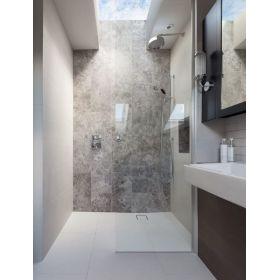płytki marmurowe silver shadow łazienka polerowane