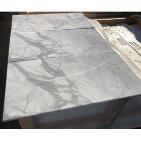 płytki marmurowe białe włoskie statuario venato 61x30,5x1 kamień łazienka