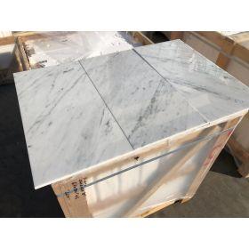 płytki marmurowe białe włoskie bianco carrara C 61x30,5x1 kamień ścienny