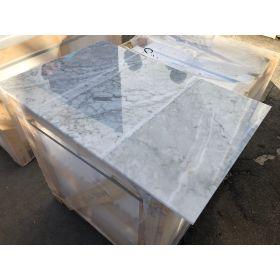 płytki marmurowe białe włoskie bianco carrara CD 61x30,5x1 kamień naturalny