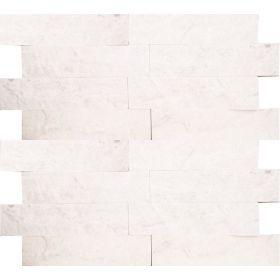 Kamień naturalny dekoracyjny elewacyjny ścienny panel marmurowy white biały