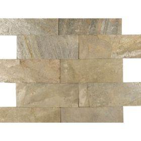 Kamień Elewacyjny Dekoracyjny Ścienny Ozdobny Naturalny Łupek Green 30x10x1 cm