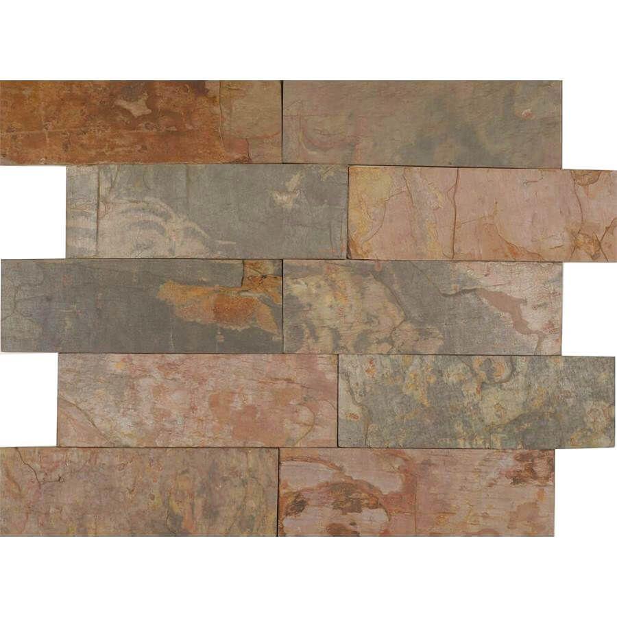 Kamień Elewacyjny Dekoracyjny Ścienny Ozdobny Naturalny Łupek Multicolor 30x10x1 cm