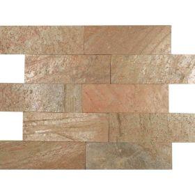 Kamień Elewacyjny Dekoracyjny Ścienny Ozdobny Naturalny Łupek Cooper 30x10x1 cm