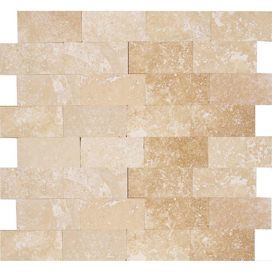 trawertyn ivory cegiełka 7,5x15 kamień ścienny